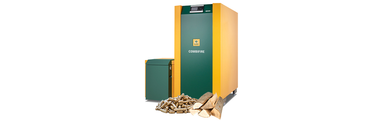 KWB Multifire boiler with pellet and wood chips